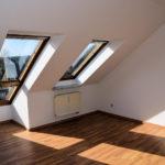 Wohnzimmer leere Eigentumswohnung