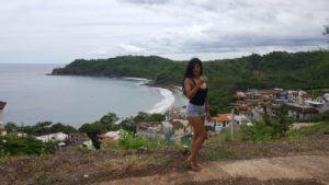 Aussicht auf neues Dorf bei Playa Danta