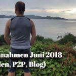 Einnahmen Juni 2018 (Immobilien, Blog, P2P)