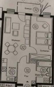 Grundriss Wohnung ETW15
