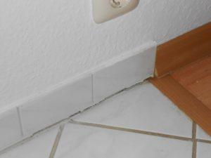 Bodenfuge in Küche gerissen -