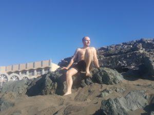 Alex am Strand