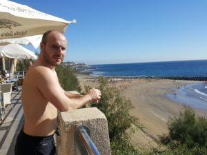 Ausblick vom Restaurant auf den Strand