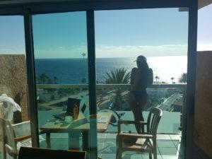 Aussicht vom Balkon Gran Canaria
