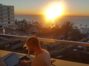 Bloggen am Morgen auf Gran Canaria