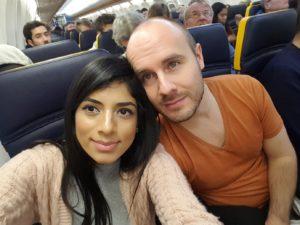 Im Flieger nach Gran Canaria
