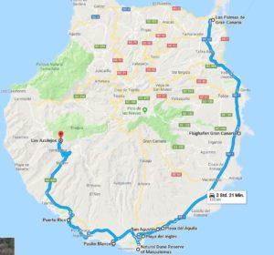 Reiseroute Gran Canaria
