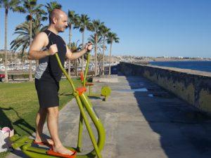 Sport am Strand von Gran Canaria