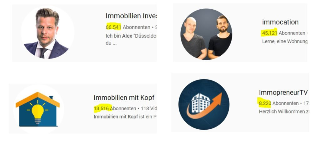 Immobilien Investmet Youtube Kanal