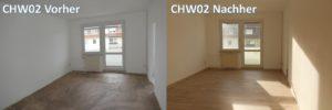 Renovierung CHW02 vorher nacher