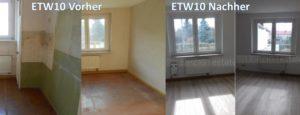Renovierung ETW10 vorher nacher