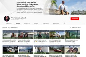 Youtube Kanal Vermietertagebuch