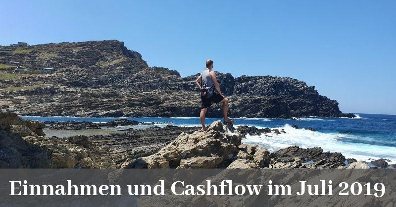 Einnahmen und Cashflow Juli 2019