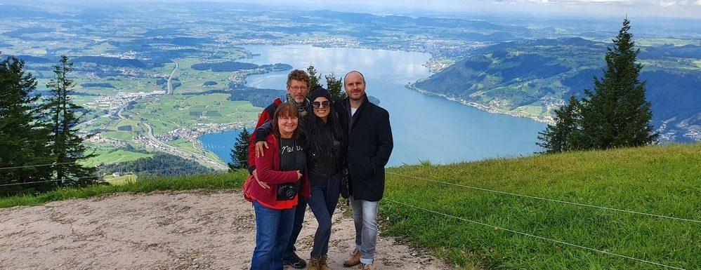 Mit der Familie auf dem Rigi